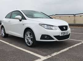 Seat Ibiza, 2009 (09) White Hatchback, Manual Petrol, 109,000 miles