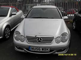 AUTO Mercedes C CLASS, 2006 (56) Silver Coupe, Automatic Diesel, 117,089 miles