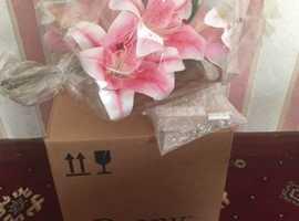 Peony pink lilies