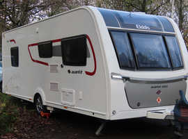 Now sold ! Elddis Avante 550 2018 fitted with auto mover and 80w solar panel. Single axel