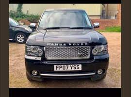 Land Rover Range Rover, 2007 (07) Black Estate, Automatic Diesel, 128,000 miles