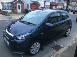 Peugeot 108, 2017 (67) Blue Hatchback, Manual Petrol, 9,400 miles