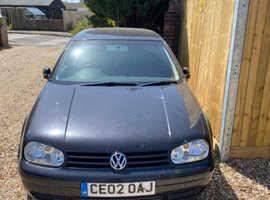 Volkswagen Golf, 2002 (02) Black Hatchback, Manual Petrol, 121,000 miles