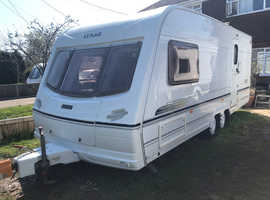2 berth Twinaxle touring caravan made by Lunar