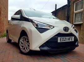 Toyota Aygo, 2021 (21) White Hatchback, Cvt Petrol, 4,520 miles