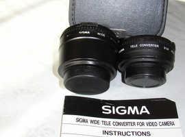 Sigma Video Camera Attachments