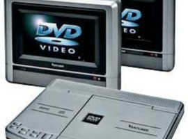 """Dual 7"""" dvd screens and player"""