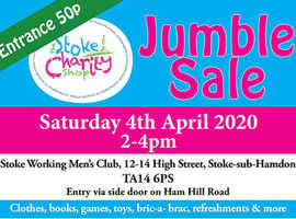 CANCELLED: Jumble Sale, Saturday 4 April 2020, 2-4pm, Stoke-sub-Hamdon Working Men's Club, TA14 6PS
