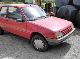 Peugeot 205, 1995 (N) Red Hatchback, Manual Diesel, 143,000 miles