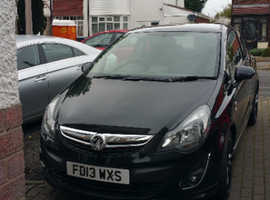 Vauxhall Corsa, 2013 (13) Black Hatchback, Manual Petrol, 68,000 miles