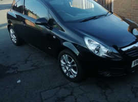 Vauxhall Corsa, 2009 (59) Black Hatchback, Manual Petrol, 55 miles