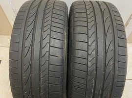 2 x Used Bridgestone Potenza RE050A  225/45/R17