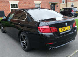 BMW 5 Series, 2011 (11) Black Saloon, Manual Diesel, 121,000 miles