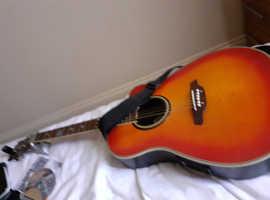 Aria Roundback Semi Acoustic