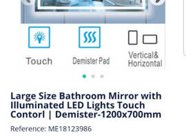 Mirror with LED boxed- Brand new