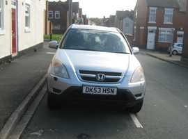 Honda CR-V, 2003 (53) Silver Estate, Automatic Petrol, 108,283 miles