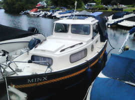 Hardy Pilot 20 with new Mariner 60 Outboard. 20ft long, 8ft beam, Very comfortable day or weekend boat.