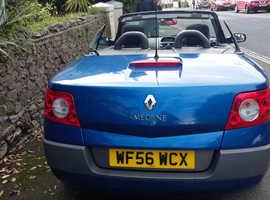 Renault Megane, 2006 (56) Blue Convertible, Manual Petrol, 129,000 miles