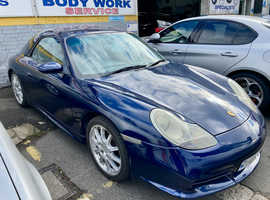 Porsche 911, 2000 (W) blue convertible, Manual Petrol, 98,000 miles
