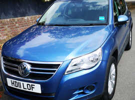 Volkswagen Tiguan, 2011 (11) Blue Estate, Manual Diesel, 85,899 miles