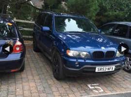 BMW X5, 2003 (53) Blue Estate, Automatic Diesel, 156 miles