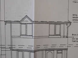 Building plot with detailed planning for a 3 bed detached dwelling with off road parking