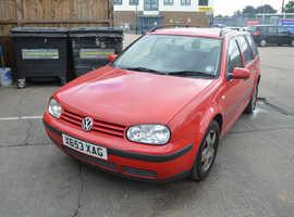 Volkswagen Golf, 2000 (X) Red Estate, Manual Petrol, 135,000 miles