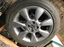 BMW Mini MK1 ALLOY wheels and 195 65 RF 16 87V run flat tyres