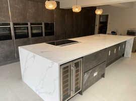 Granite Kitchen Worktops, Marble Bathrooms, Quartz Tiles, Fireplaces, Stairs.