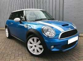 £500 OFF! Mini 1.6 Cooper S, Immaculate Low Mileage Example, Metallic Blue & White, Panoramic Roof