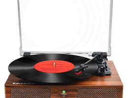 Vinyl Record Player Turntable with Built-in Speakers