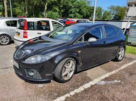 Seat Leon, 2007 (57) Black Hatchback, Manual Diesel, 1,120,000 miles