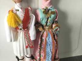 Greek dolls set of two in traditional dress - Brand new from Greece