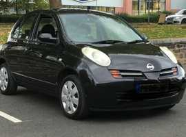 Nissan Micra, 2005 (05) Black Hatchback, Manual Petrol, 43,000 miles