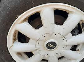 Mini alloy wheels in white with good tyres