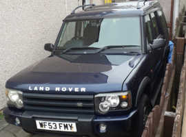 Land Rover Discovery, 2003 (53) Blue Estate, Manual Diesel, 169,000 miles