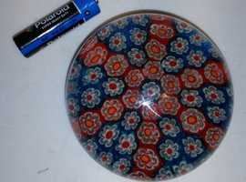 Vintage Millefiori Glass Paper Weight