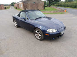 Mazda Mx5, 2003 (52) Blue Convertible, Manual Petrol, 51,000 miles