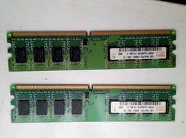 2x 1GB Ram for desktop pc