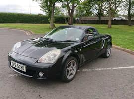 Toyota Mr2, 2004 (04) Black Convertible, Manual Petrol, 95,000 miles