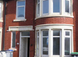 3 BED MID GARDEN TERRACE HOUSE WITH GARAGE  -  BLACKPOOL