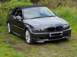 BMW 3 Series, 2006 (06) Grey Convertible, Manual Petrol, 80,000 miles