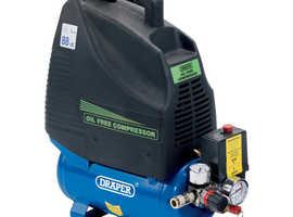 Draper 6L 1100W Oil-Free Air Compressor 230V