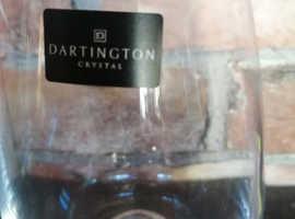 Dartington crystal glass tumblers new and unused