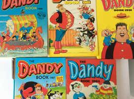 5 x Dandy Annuals - 1984/1987/1988/1989/1990