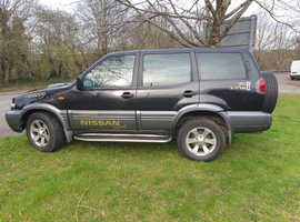 Nissan TERRANO SE TD, 2005 (55) Black 4x4, Manual Diesel