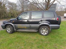 Nissan TERRANO SE TD, 2005 (55) black 4x4, Manual Diesel, 150.000 miles