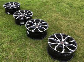 18 inch alloy wheels, Project A, Alpha 85, diamond cut, five stud