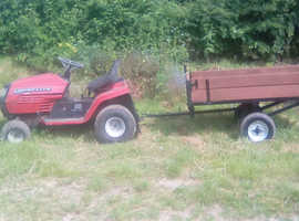 ride on mower with trailor