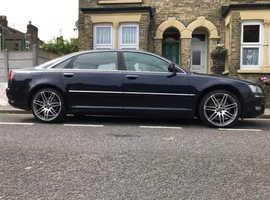 Audi A8,L  2009 (09) Blue Saloon, Automatic Diesel, 170,000 miles